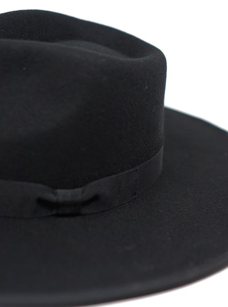 Barry Wide Brim Fedora by Olive & Pique™ (Black) - BLK PYTHON BOUTIQUE
