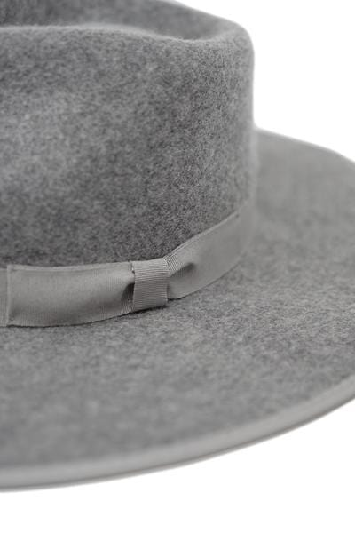 Barry Wide Brim Fedora by Olive & Pique™ (Grey) - BLK PYTHON BOUTIQUE