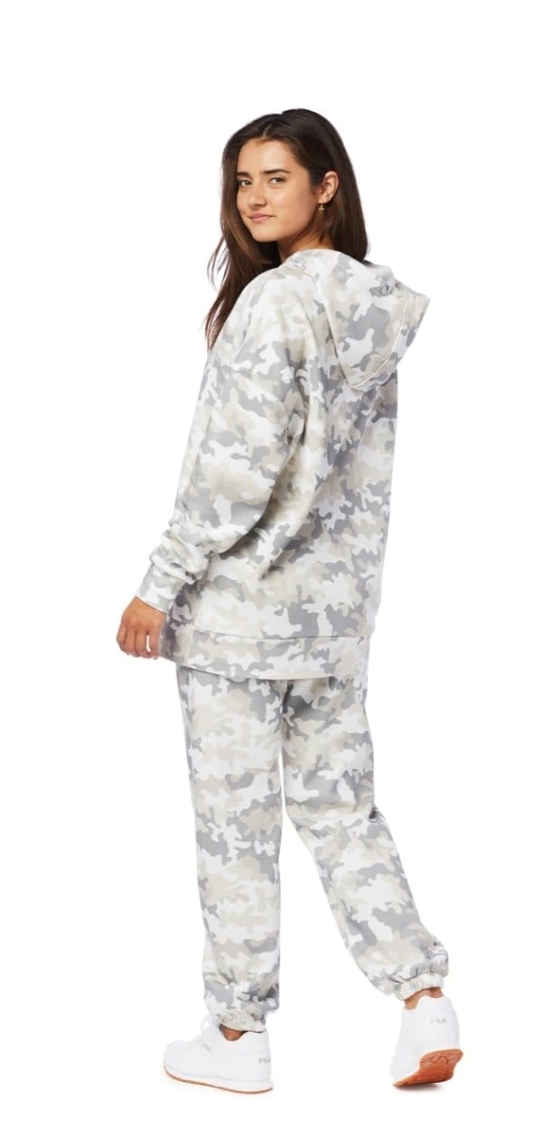 LazyPants™️ THE COOPER HOODIE IN WHITE CAMO - BLK PYTHON BOUTIQUE