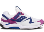 Saucony Grid 9000 Premium Suede - White Purple