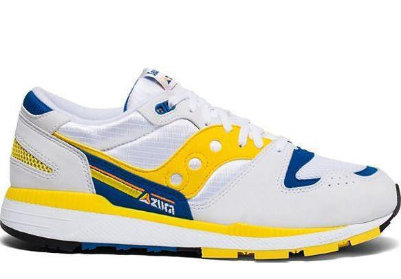 Saucony Azura - White Blue Yellow