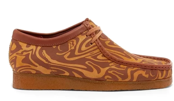 Clarks Wallabee WU-TANG - Brown Tan Maroon (Marble)