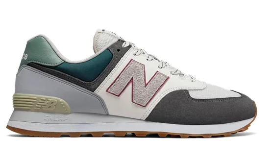 New Balance 574 - Grey Eggshell Moss Olive Green