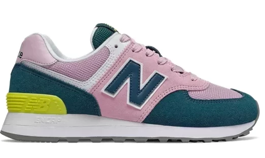 New Balance 574 Women's - Pink Navy Volt