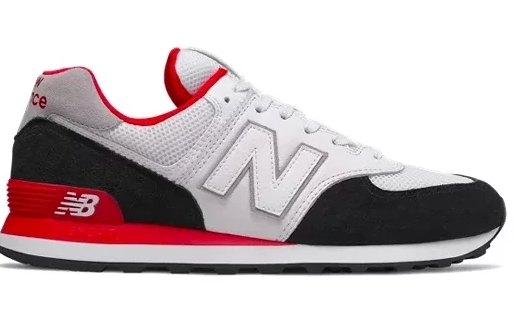competitive price 9ec33 280c9 New Balance 574 - White Black Red