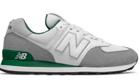 New Balance 574 - White Grey Pine Green
