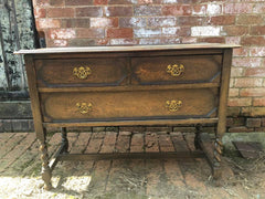 antique sideboard with barley twist legs