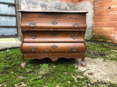 small bombe chest of drawers