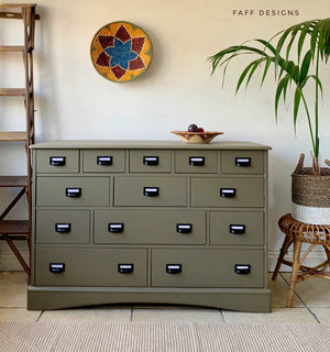 Vintage Apothecary Style Chest of Drawers
