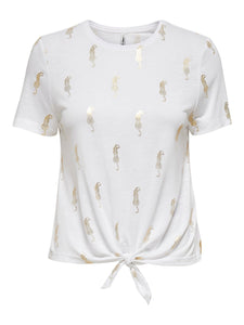 Belis Life Short Sleeve Knot Top