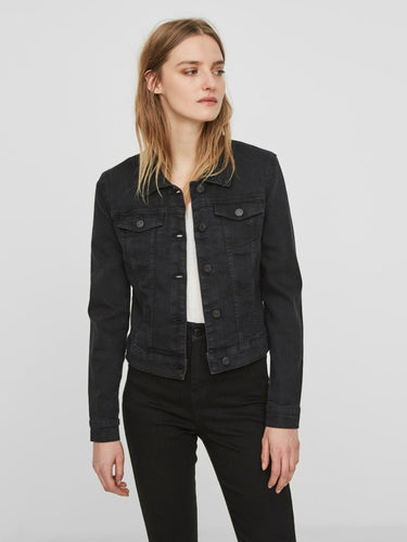 Debra L/S Black Wash Denim jacket