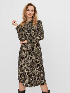 ANI L/S SHIRT DRESS WVN LCS