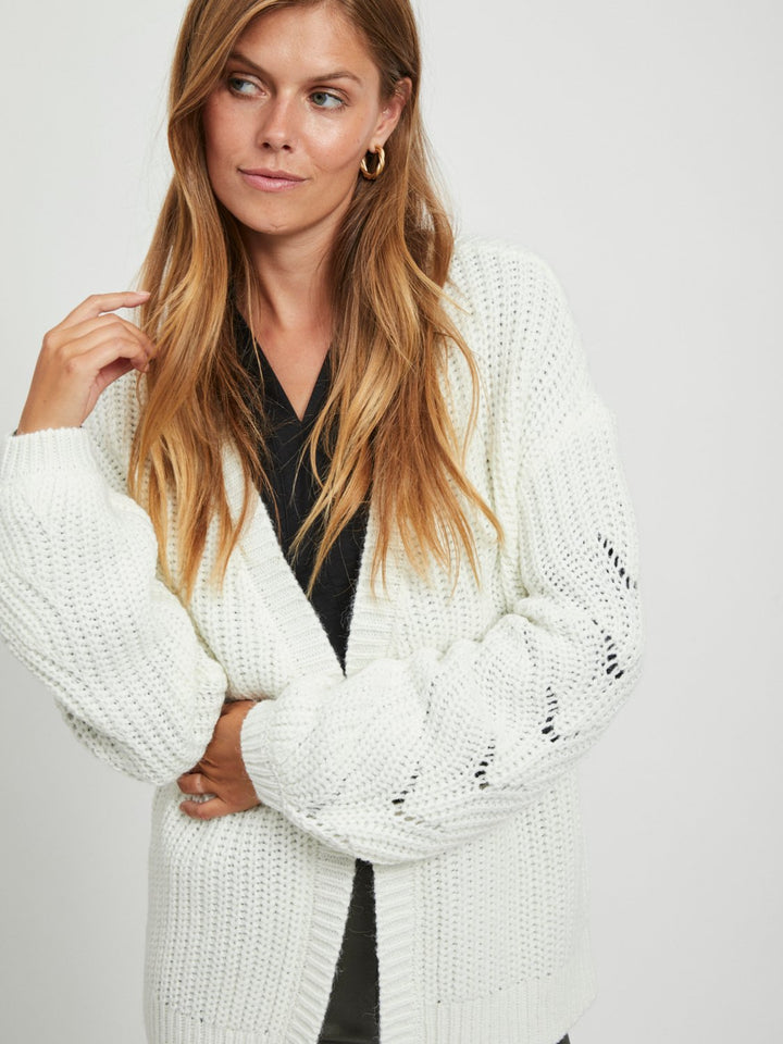 See Knit V-neck L/S Cardigan