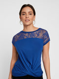 ANASTASIA S/S LACE PLEAT BLOUSE SB6