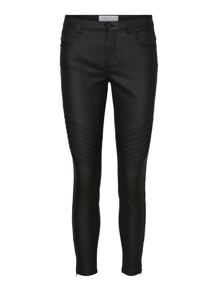 Kimmy Normal Waist Skinny Coated Biker Pants