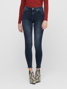 Blush Life Mid Skinny Ankle Raw REA409 Jeans