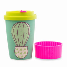 Load image into Gallery viewer, Bamboo Eco Cup 400ml Cactus