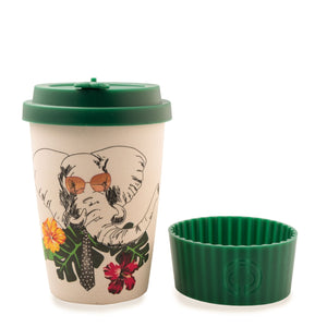 Bamboo Eco Cup 400ml Elephant