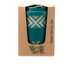 Load image into Gallery viewer, Bamboo Eco Cup 400ml Green Geometric