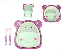 Load image into Gallery viewer, Bamboo Kids 5 Piece Meal Set Hippo