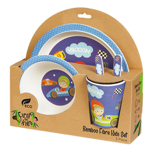 Bamboo Kids 5 Piece Meal Set Race Car