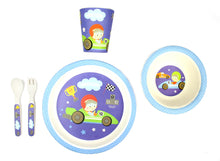 Load image into Gallery viewer, Bamboo Kids 5 Piece Meal Set Race Car