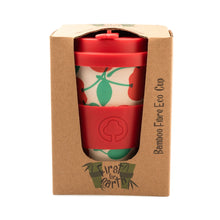 Load image into Gallery viewer, Bamboo Eco Cup 400ml Red Cherry