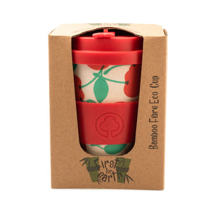 Bamboo Eco Cup 400ml Red Cherry