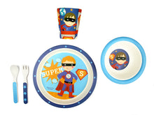 Load image into Gallery viewer, Bamboo Kids 5 Piece Meal Set Superhero