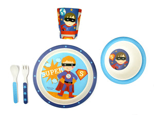 Bamboo Kids 5 Piece Meal Set Superhero