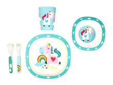 Load image into Gallery viewer, Bamboo Kids 5 Piece Meal Set Unicorn