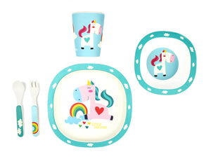 Bamboo Kids 5 Piece Meal Set Unicorn