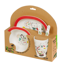 Load image into Gallery viewer, Bamboo Kids 5 Piece Meal Set World