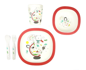 Bamboo Kids 5 Piece Meal Set World