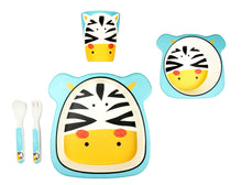 Load image into Gallery viewer, Bamboo Kids 5 Piece Meal Set Zebra