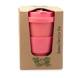 Bamboo Eco Cup 400ml Coral