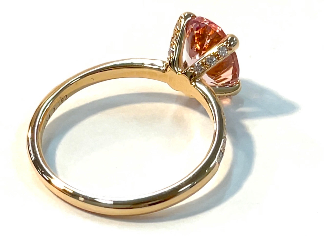 【現在庫】18KPG MORGANITE DIAMONDS XRING POV9 D-26 - モルガナイト&ザ・セレクト ~ MORGANITE N THE SELECTS