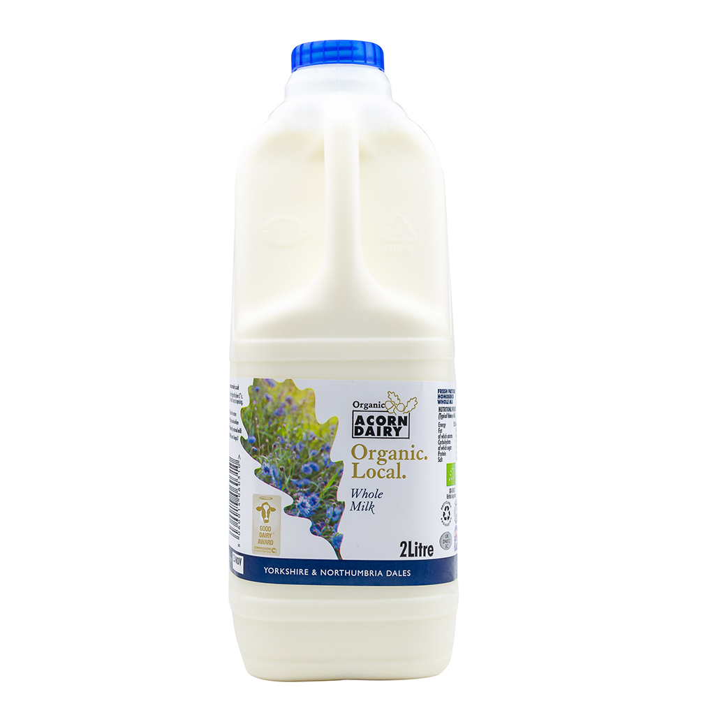 Acorn Dairy Organic Milk 2 Litre - Whole Milk - Langthorpe Farm Shop