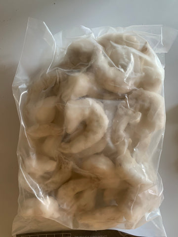King prawns peeled de veined 1kg bag (Frozen) - Langthorpe Farm Shop