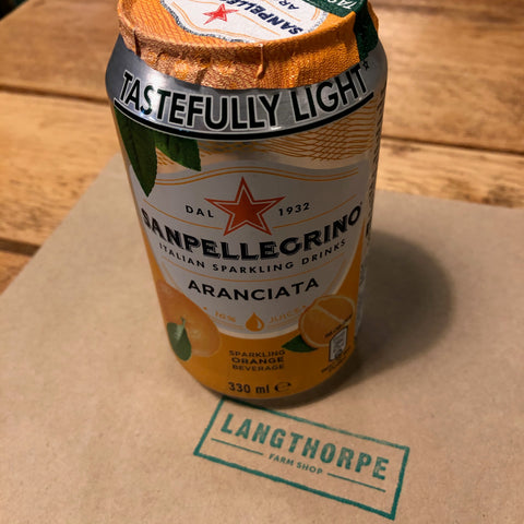 San Pellegrino Aranciata 330ml Can - Langthorpe Farm Shop