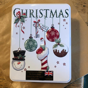 Farmhouse Bauble Stocking Tin