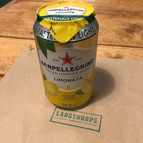 San Pellegrino Limonata 330ml Can - Langthorpe Farm Shop
