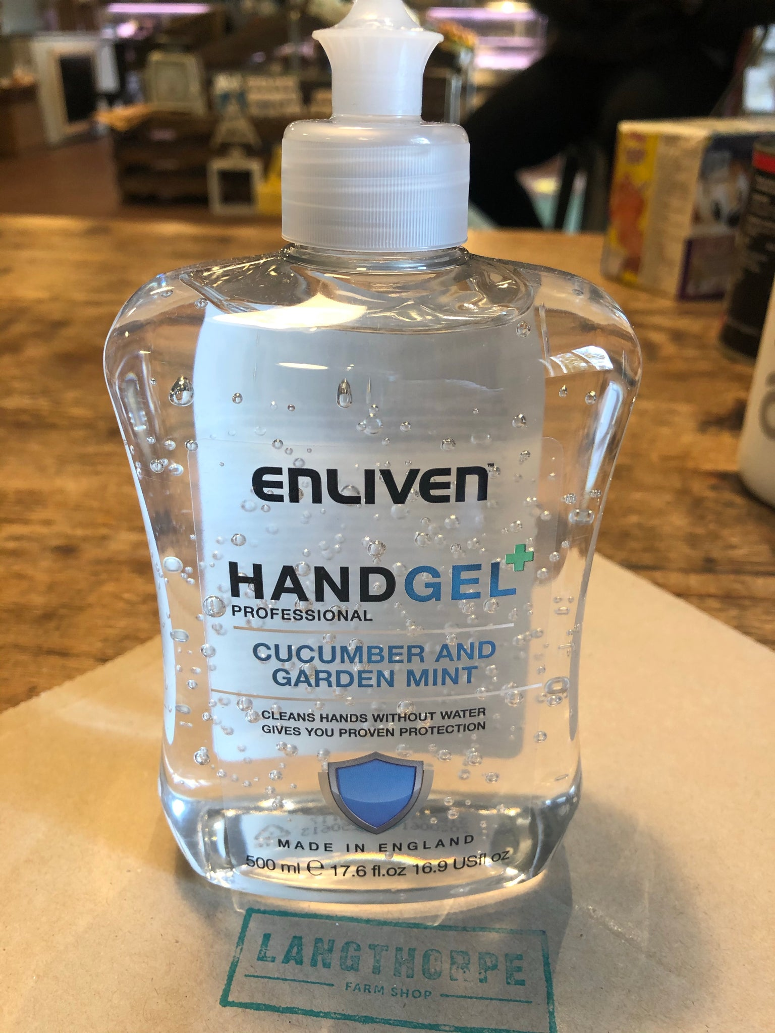 Alcohol Hand Gel - Cucumber & Garden Mint