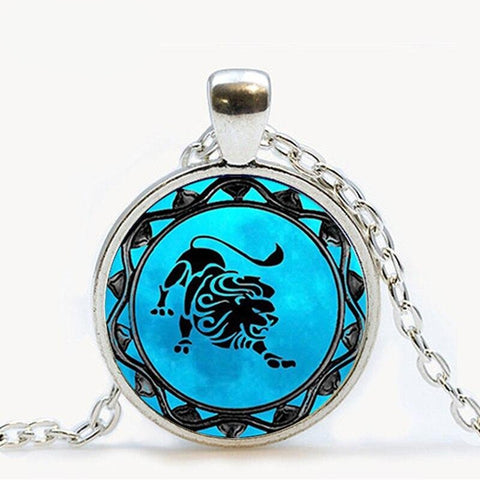 COLLIER SIGNE ASTROLOGIQUE LION HOMME - Zodiaque Shop