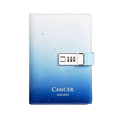 LIVRE CANCER<br /> JOURNAL INTIME - Zodiaque Shop