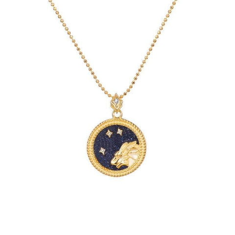 COLLIER MÉDAILLE LION - Zodiaque Shop