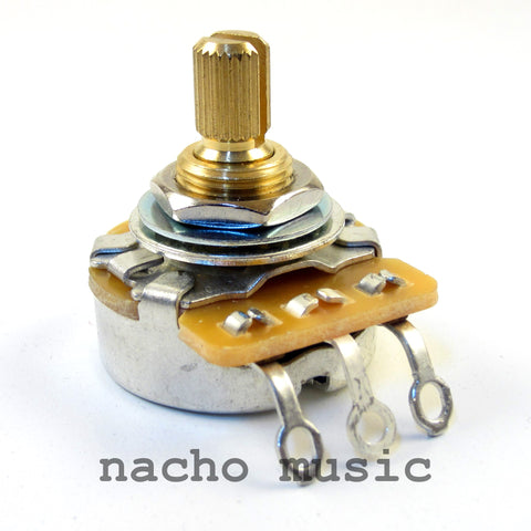 CTS 250K 10% Tolerance Vintage-Style Split Shaft Audio Potentiometer