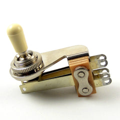 "Switchcraft 3-Way Right Angle ""L-Type"" Toggle Switch w/ Cream Switchcraft Tip"