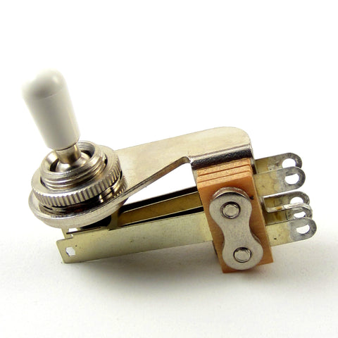 "Switchcraft 3-Way Right Angle ""L-Type"" Toggle Switch w/ White Switchcraft Tip"