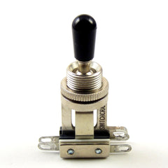 Switchcraft 3-Way Short Toggle Switch w/ Black Switchcraft Tip